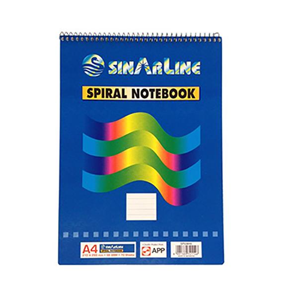 Sinarline Shorthand Pad Top Spiral - A4 (pkt/12pcs)