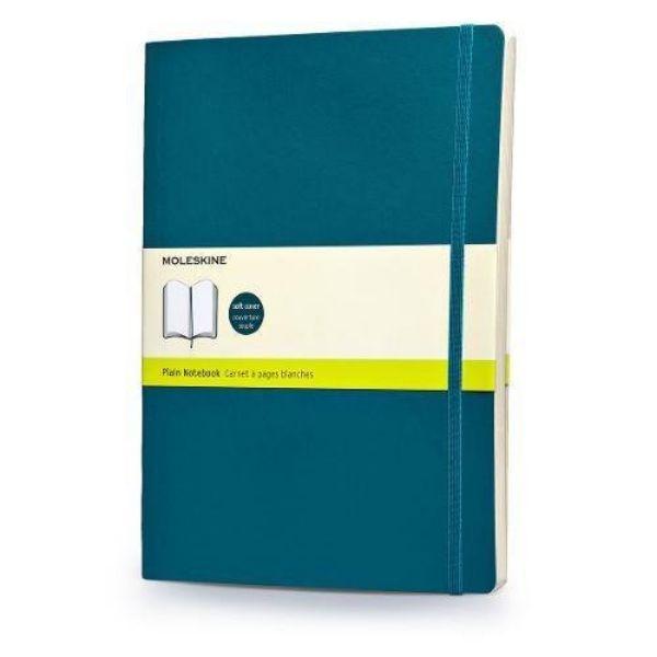 Moleskine Plain Notebook Extra Large Soft Cover (ME-QP623B6) - Underwater Blue (pc)