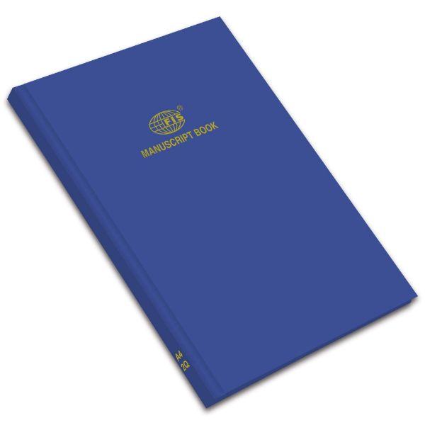FIS Manuscript Book 8mm A4 2Q FSMNA42Q - Blue (pkt/5pcs)