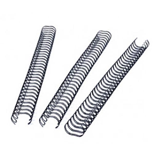 Fellowes Wire Binding Rings 3:1 8mm 34 Loops - Black (box/100pcs)