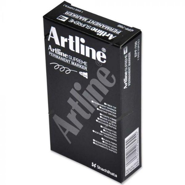 Artline Supreme 1.0mm Permanent Marker - Black (box/12pcs)