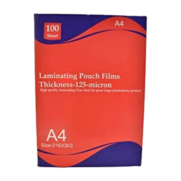Deluxe Laminating Pouch 125-micron - A4 (pkt/100pcs)
