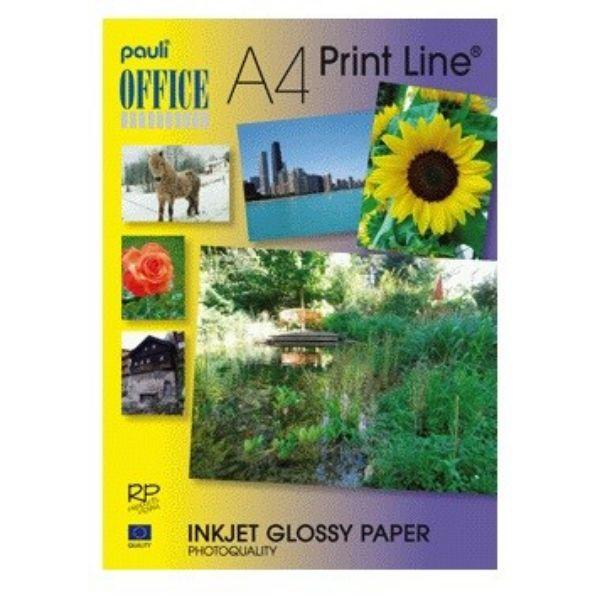 Pauli Inkjet Photo Paper Glossy Instant Dry Premium Adhesive A4 - White (pkt/50s)