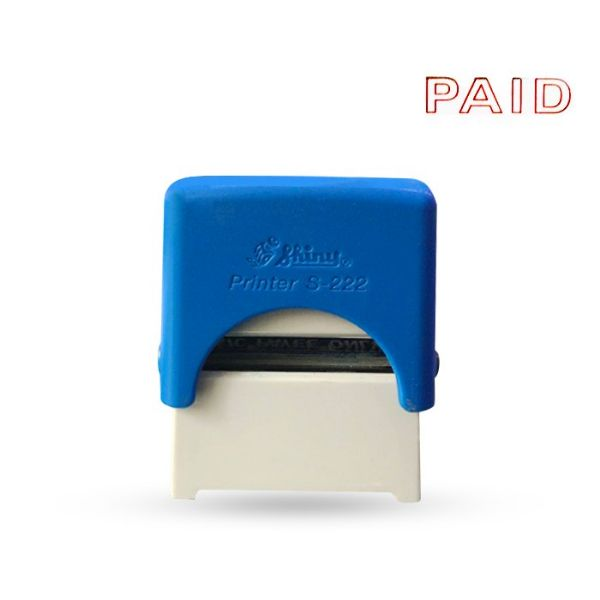 Shiny STP03 PAID Self-inking Stamp - Red (pc)