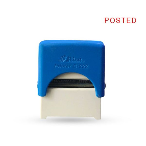 Shiny STP16 POSTED Self-inking Stamp - Blue (pc)