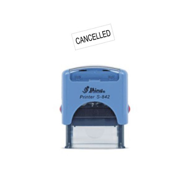 Shiny STC-19 CANCELLED Self-Inking Stamp - Blue (pc)