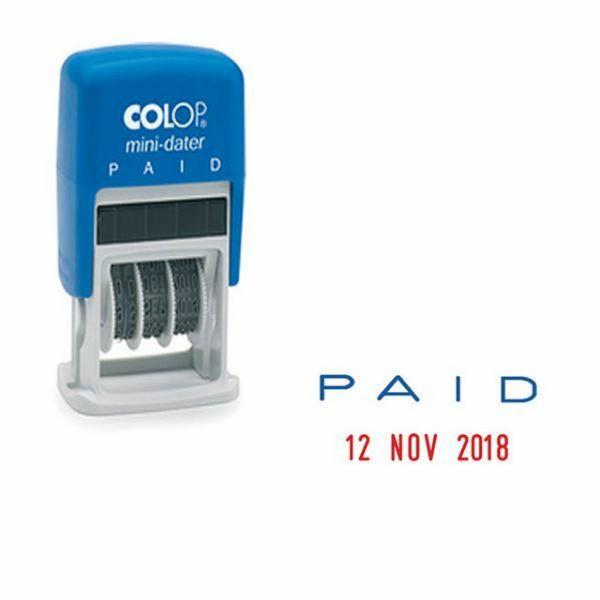 Colop Mini Dater PAID - Blue (pc)