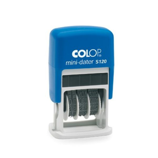 Colop S120 Mini Dater Self-Inking Stamp - Blue (pc)