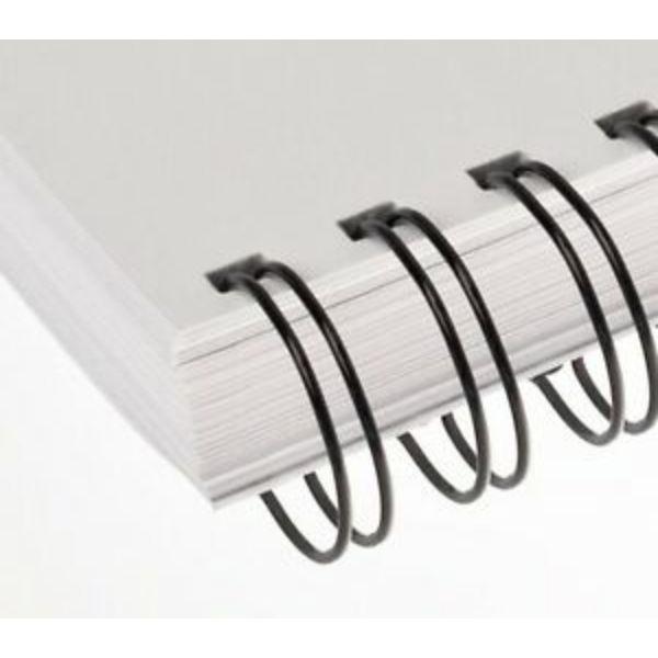 Renz Wire Binding Rings 3:1 34 Loops 8mm - Black (box/100pcs)