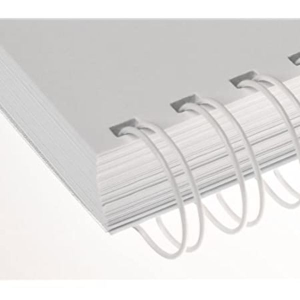 Renz Wire Binding Rings 3:1 34 Loops 8mm - White (box/100pcs)