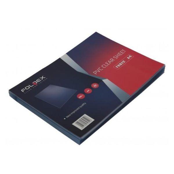 Foldex FX012 PVC Binding Sheet 180 micron A4 - Clear (pkt/100pcs)