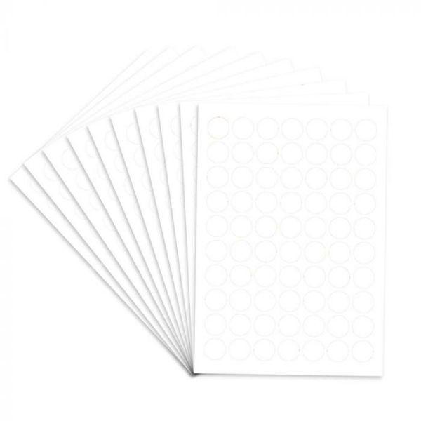 FIS Color Round Labels 19mm FSLA19 - White (pkt/350Labels)
