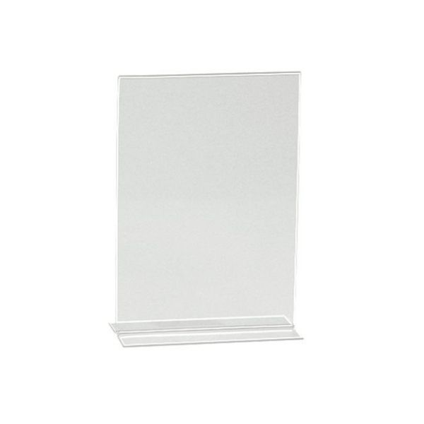 Acrylic Sign Holder T-Shape A4 210x297mm - Clear (pc)