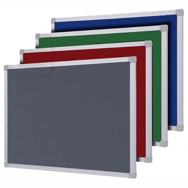 Partner Cork/Felt Notice Board 120 x 150cm - Green (pc)