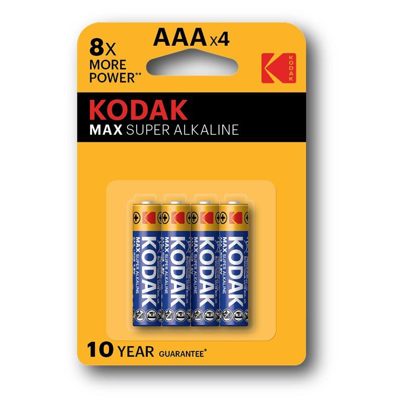 Kodak Max Super Alkaline AAA Batteries (Pkt/4pc)