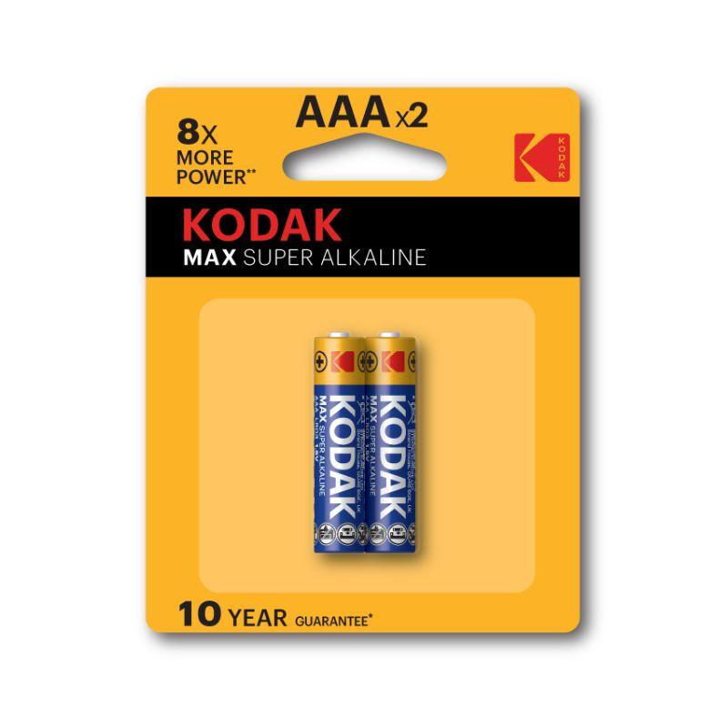 Kodak Max Super Alkaline AAA Batteries (Pkt/2pc)