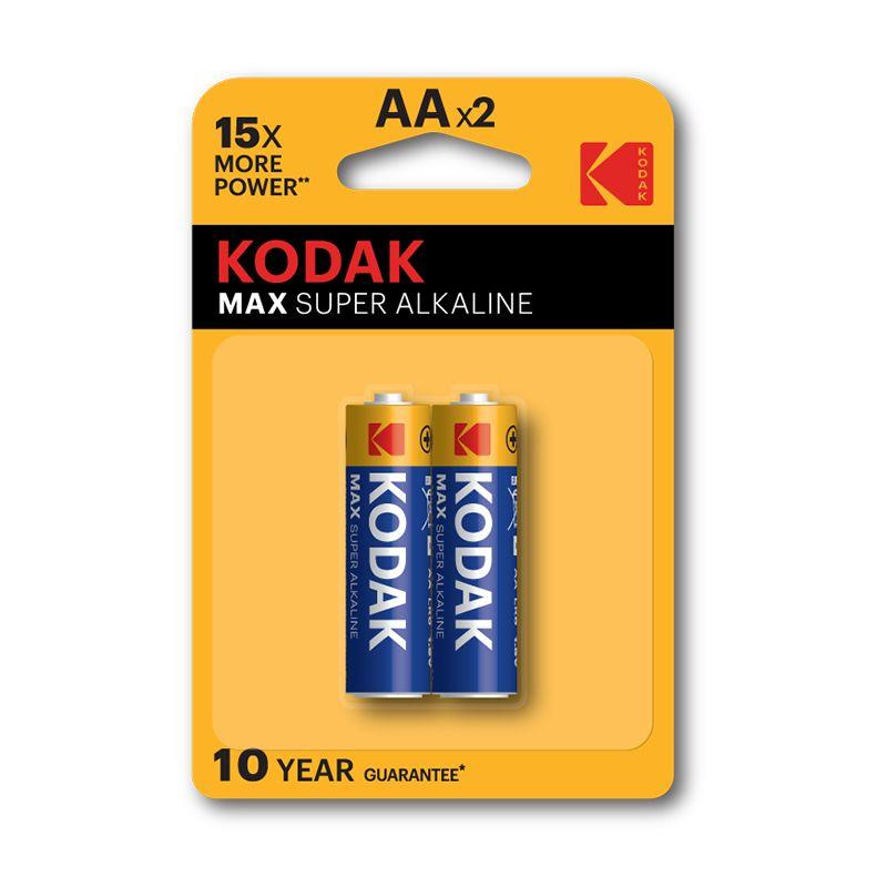 Kodak Max Super Alkaline AA Batteries (Pkt/2pc)
