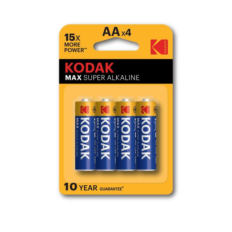 Kodak Max Super Alkaline AA Batteries (Pkt/4pc)