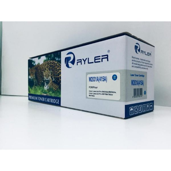 Ryler 415A (W2031A) Compatible Toner Without Chip - Cyan