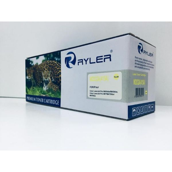 Ryler 415A (W2032A) Compatible Toner Without Chip - Yellow