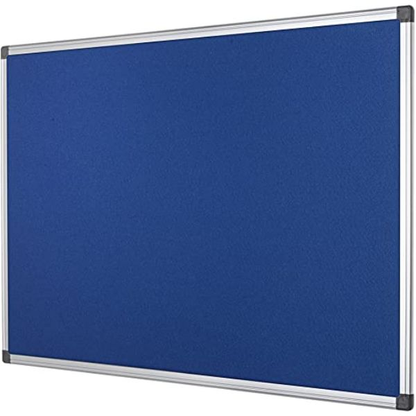 Maxi Cork/Felt Notice Board 120 x 240cm - Blue (pc)