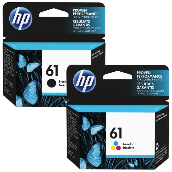 HP 61 Original Ink Cartridge Set ( Black/Tri-color)