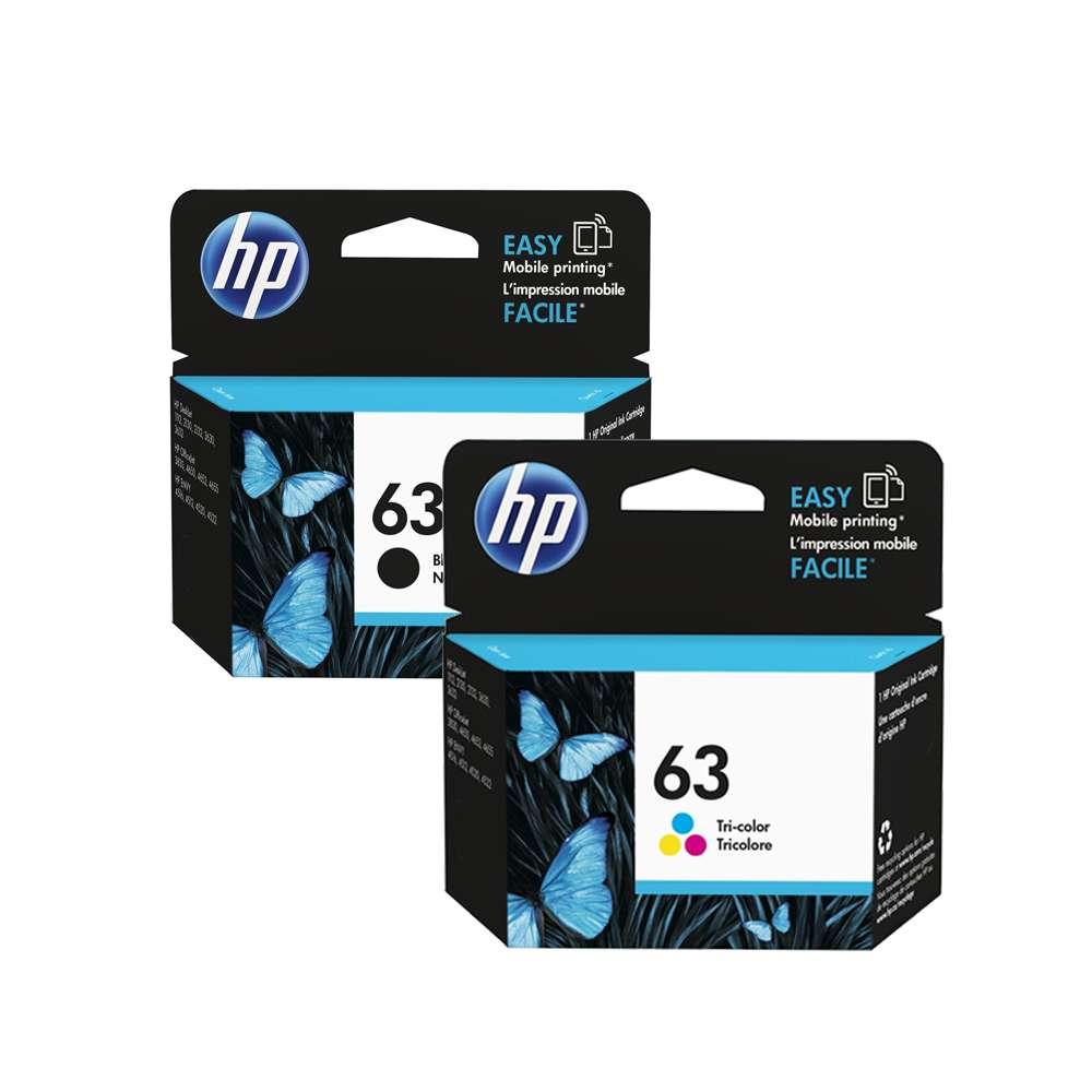 HP 63 Original Ink Cartridge Set - Black/Tri-Colour