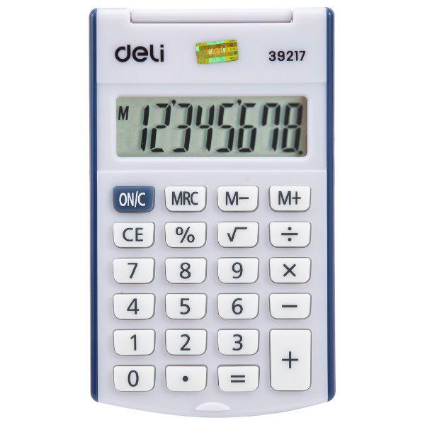 Deli W39217 8-Digit Pocket Calculator - Blue