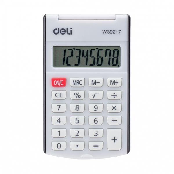 Deli W39217 8-Digit Pocket Calculator - Black