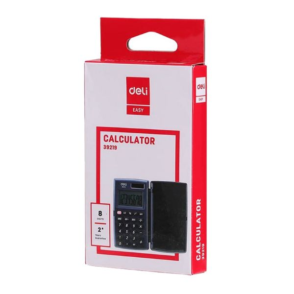 Deli 39219 8-Digit Pocket Calculator - Black