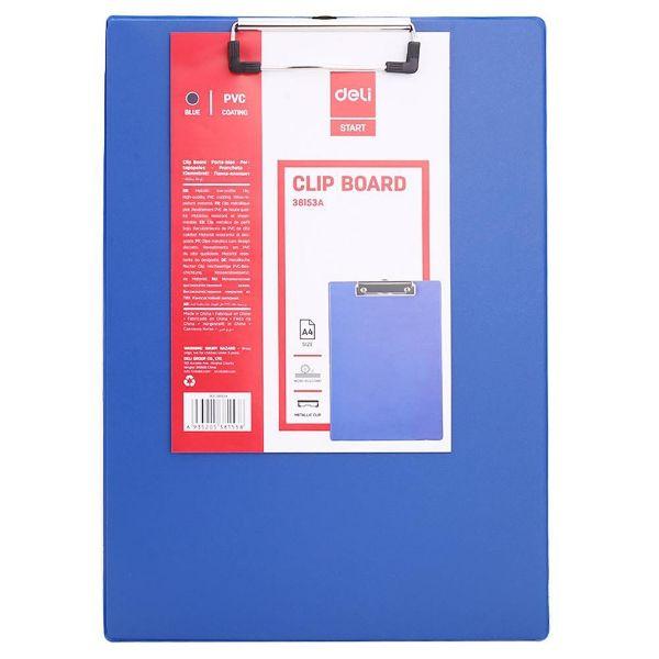 Deli E38153 PVC Coated A4 Clip Board - Blue (pc)