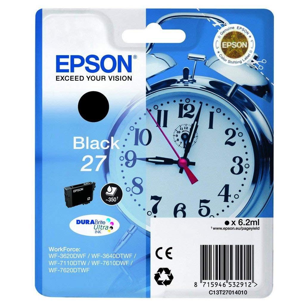 Epson Alarm Clock No.27 Series Standard Ink Cartridge - Black