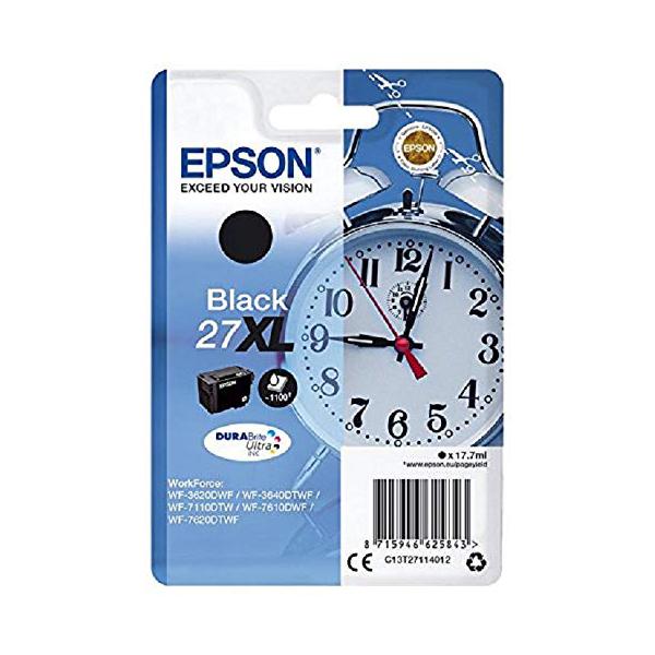 Epson Alarm Clock No.27 XL Series High Capacity Ink Cartridge - Black