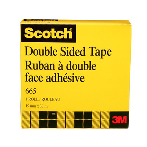 3M 665 Doublecoated 19mm x 32.9m Tape (pc)
