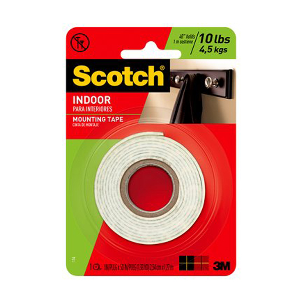 3M Scotch 114 Indoor Mounting Tape - 1in x 50in (pc)