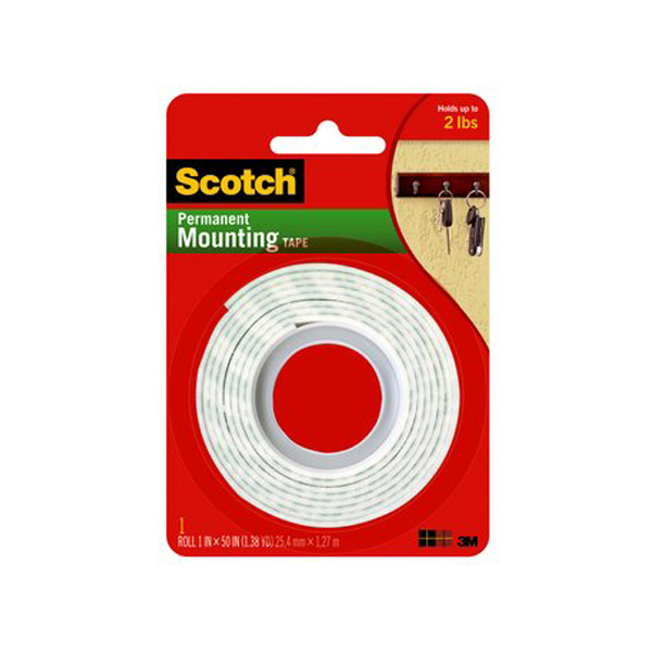 3M Scotch 114 Permanent Mounting Tape - 1in x 50in (pc)