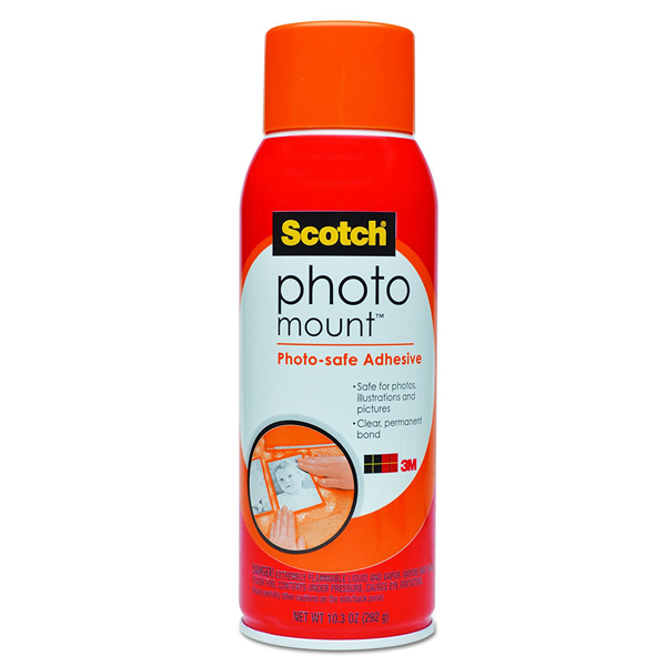 3M Scotch 6094 Photo Mount Adhesive 10.3 oz (pkt/5pc)