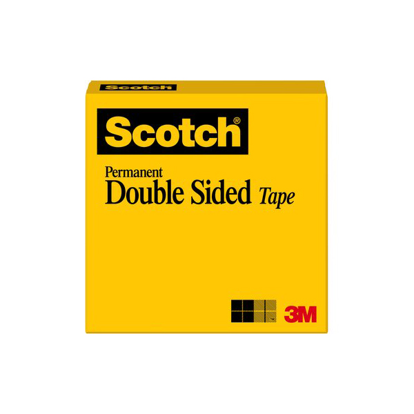 3M Scotch Double Sided Tape 665, 1/2 in x 900 in (pc)