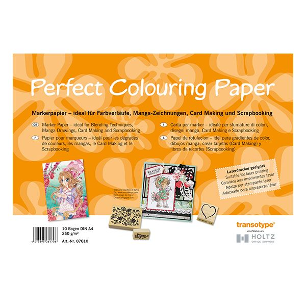 Transotype Perfect Colouring Paper - A4 Size - pkt of 10 Sheets