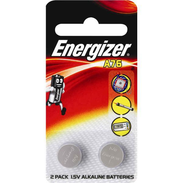 Energizer LR44 A76 1.5V Button Cell Batteries (pkt/2pc)