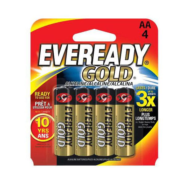 Eveready Gold AA Alkaline Battery - A91BP4 (pkt/4pc)