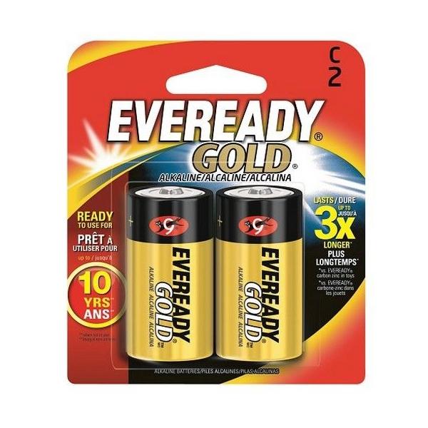 Eveready Gold Alkaline C Batteries - A93BP2 (pkt/2pc)