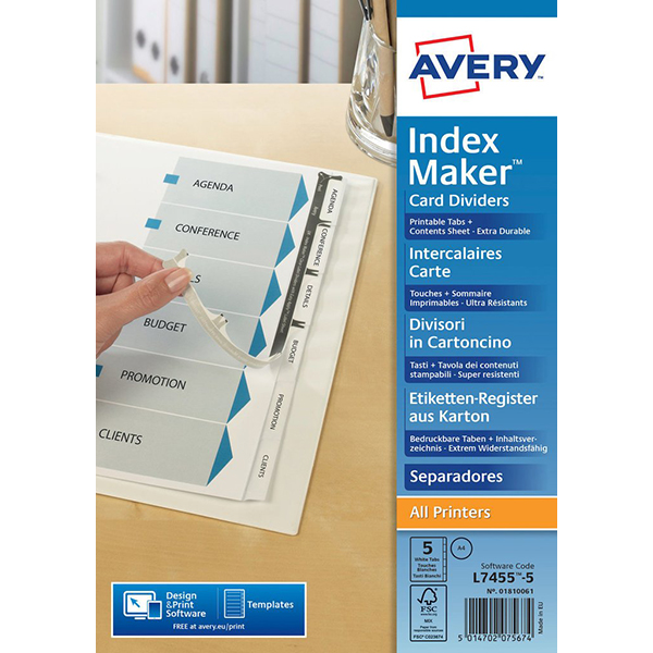 Avery Label 01810061 (pkt)