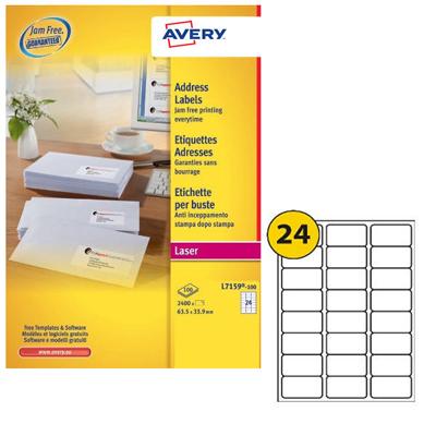 Avery Laser Label L7159-100 (pkt/100pcs)