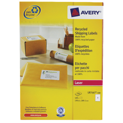 Avery Laser Lable L7167-100 (pkt)