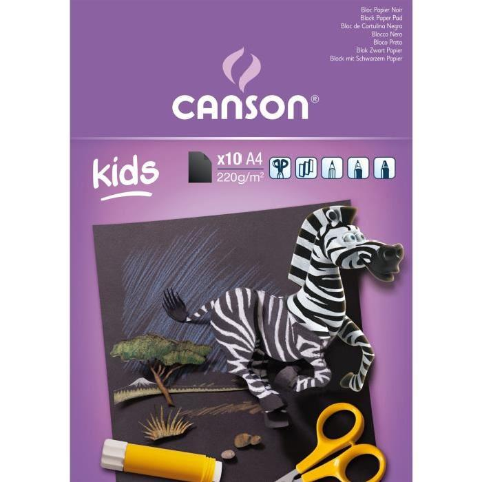 Canson Creation Paper Pads For Kids - Black (pkt/10s)