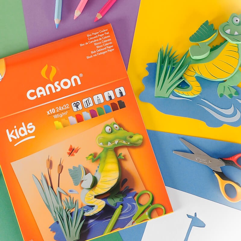 Canson Color Creation Paper Pads For Kids - 24 X 32cm (pkt/10s)