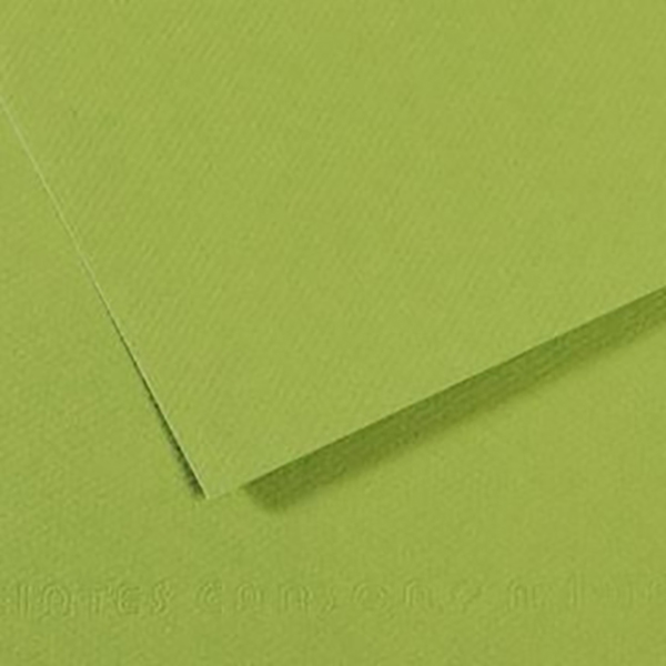 Canson Colorline Grainy Paper - Apple Green (pkt/25sheets)