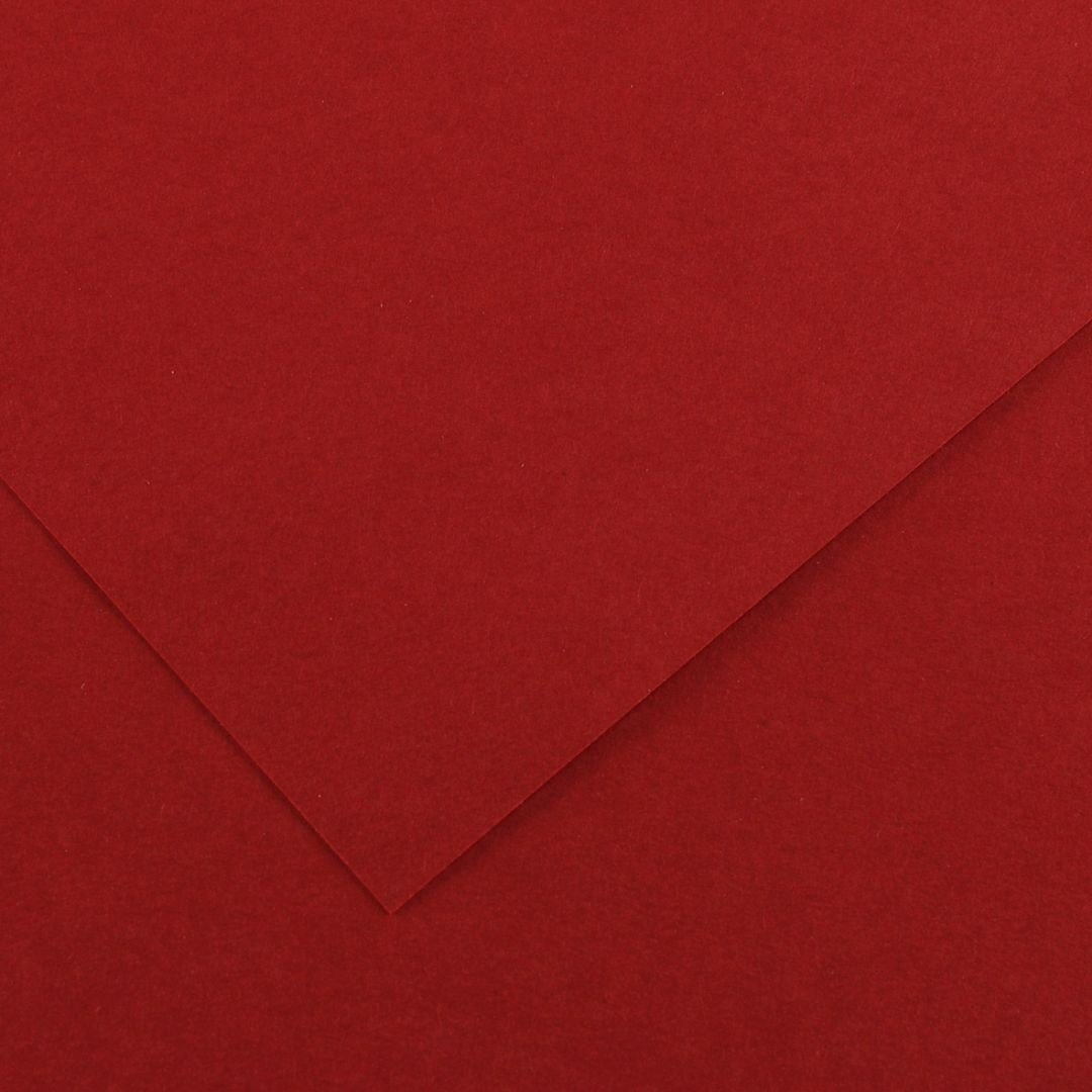 Canson Colorline Grainy Paper - Dark Red (pkt/25sheets)