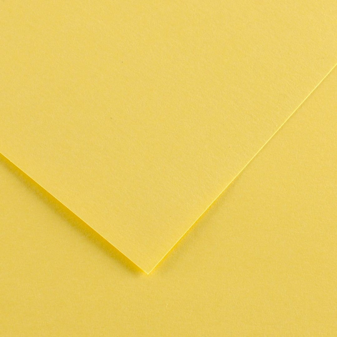 Canson Colorline Grainy Paper - Straw Yellow (pkt/25sheets)